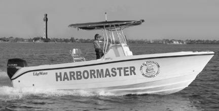 Provincetown Harbormaster main patrol boat is an Edgewater 245